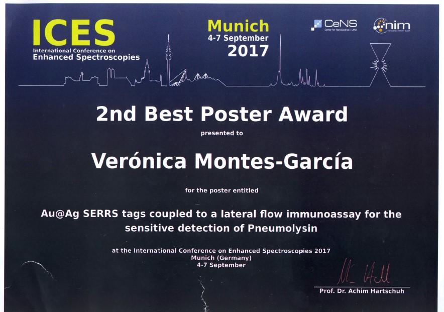 Verónica Montes-García poster presentation award