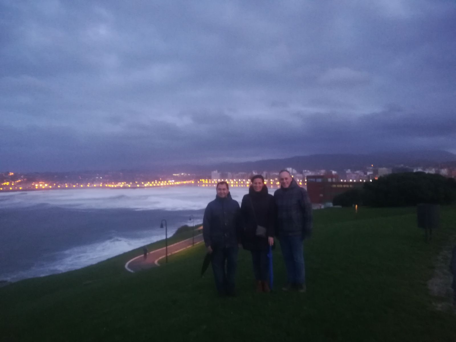 Our group enjoying Gijón
